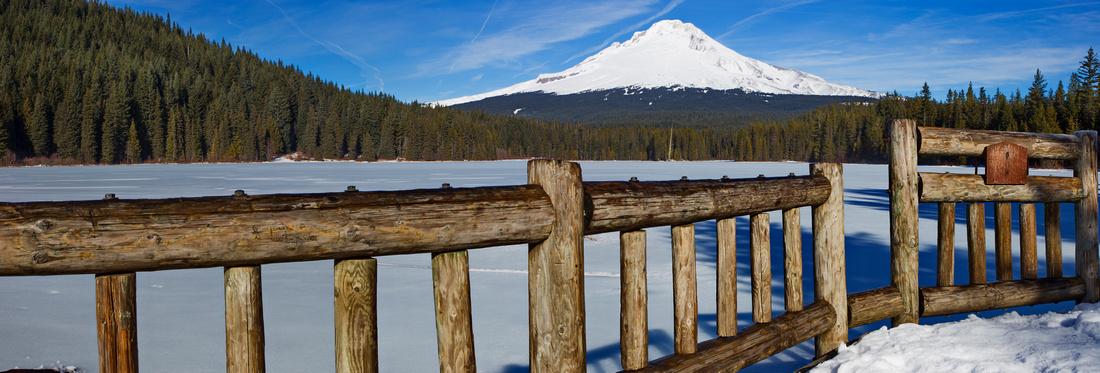 Trillium Lake Deck Pano